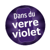 Produits vendus dans du verre violet