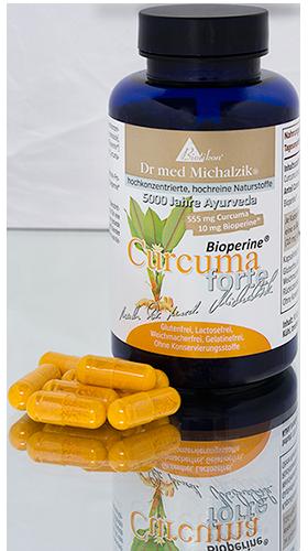 Curcuma-Dose mit Kapseln